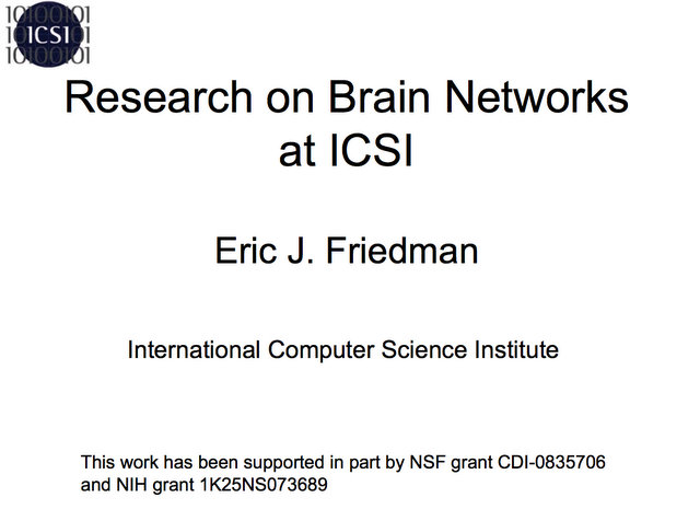 Research on Brain Networks at ICSI